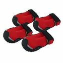 CLEARANCE -- Red Grip Trex Dog Boots by Ruff Wear -- Set of 4