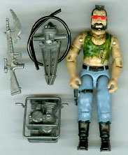 GI JOE 1985 Cobra Dreadnok Ripper (complete) GI Joe Action Figures & G.I. Vintage Toys at Guru-Planet