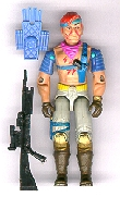 GI JOE 1986 Cobra Dreadnok Zandar (complete) GI Joe Action Figures & G.I. Vintage Toys at Guru-Planet