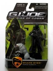 GI JOE Rise of Cobra Movie Snake Eyes w/Grey Wolf  (moc) GI Joe Action Figures & G.I. Vintage Toys at Guru-Planet