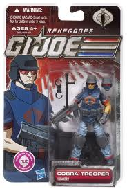 GI JOE 30th Anniversary 3 3/4 Inch Action Figure Renegades Cobra Trooper (moc) GI Joe Action Figures & G.I. Vintage Toys at Guru-Planet