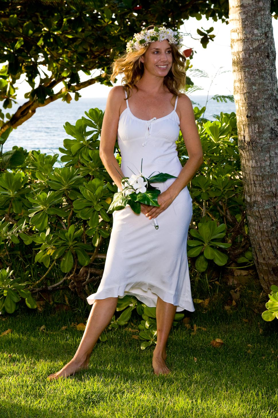 Princess Kawananakoa Hawaiian Beach Wedding Dress Laua E Collection