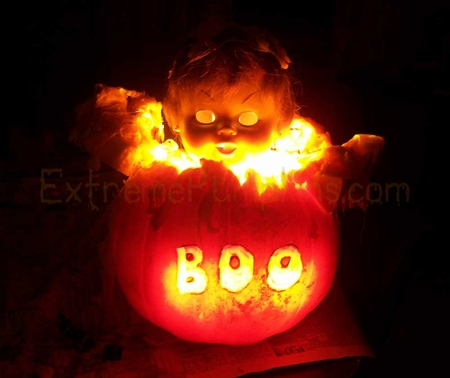 Evil Doll Pumpkin