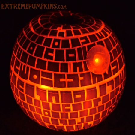 A Really Nice Photo of A Death Star Pumpkin