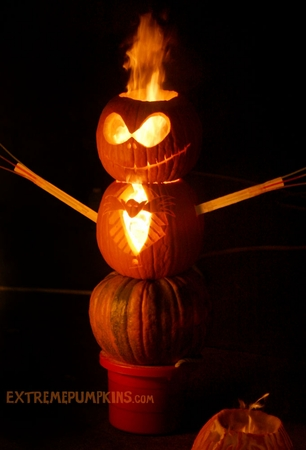 The Flaming Jack Skellington Pumpkin