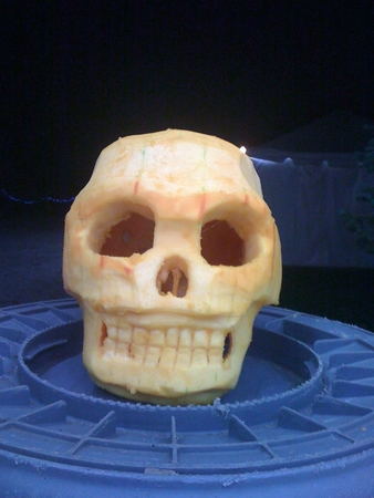 A Really Good Skull Pumpkin