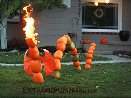 The Fire Breathing Dragon Pumpkin