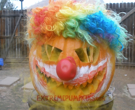 The Crazy Clown Pumpkin