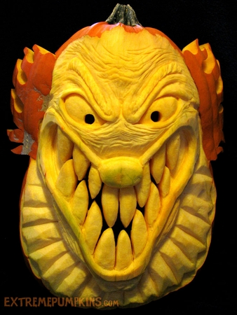 Evil Clown Pumpkin