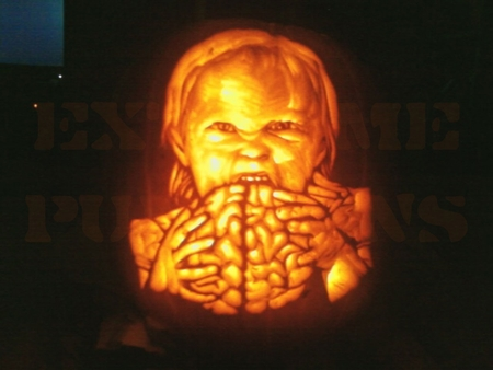 The Brain Eating Child Pumpkin