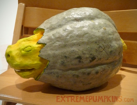 A Dinosaur Egg Made From A Hubbard Squash