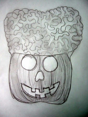 Brains - Pumpkin Idea