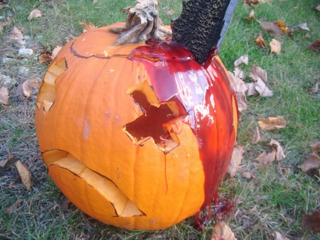 The Bloody Stabbed Pumpkin
