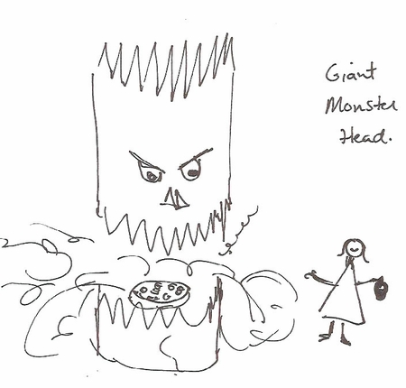 Giant Monster Head