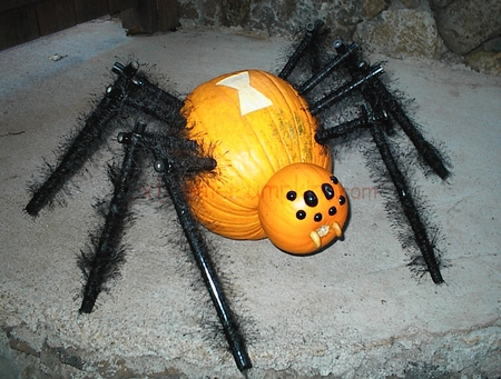 A Black Widow Pumpkin
