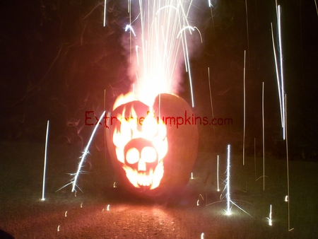 Fireworks in a Pumpkin