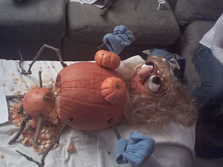 The Childbirth Pumpkin - With Stick Limbs