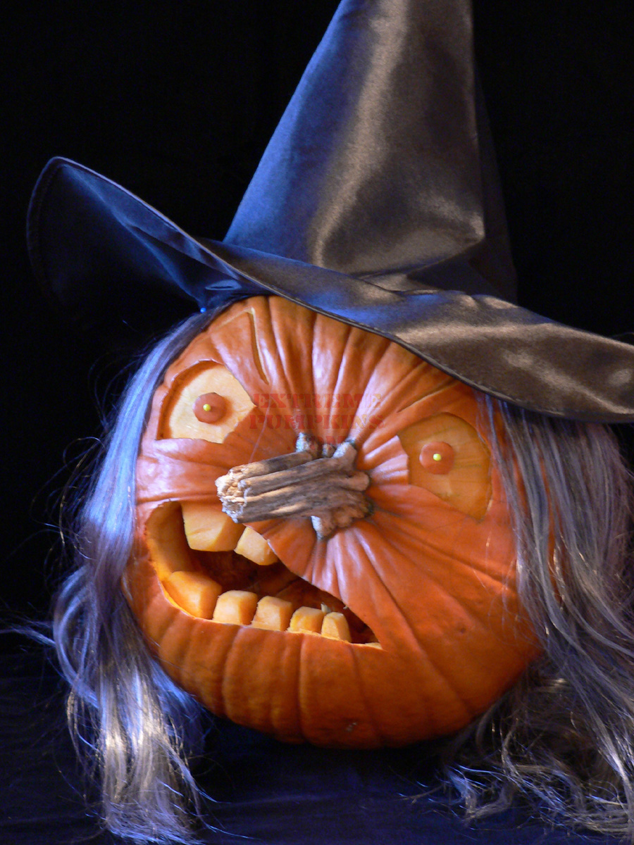 the witch pumpkinPumpkin Carving Witch #17