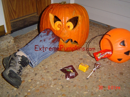 The Leg Eater Pumpkin