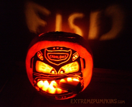 The Cruel Bus School Bus Pumpkin