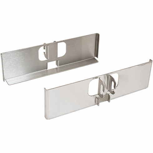 "Hafele 545.96.004 Fineline Pantry Bracket Set, 10"" wide, 304 stainless steel, brushed"