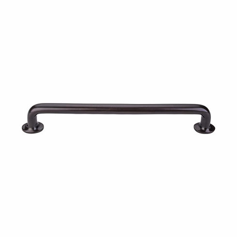 "Top Knobs M1407 Aspen Aspen Rounded Pull 18"" (c-c) - Medium Bronze, L=19 3/4"", W=1 1/4"", P=2 1/4"", CC=18"""