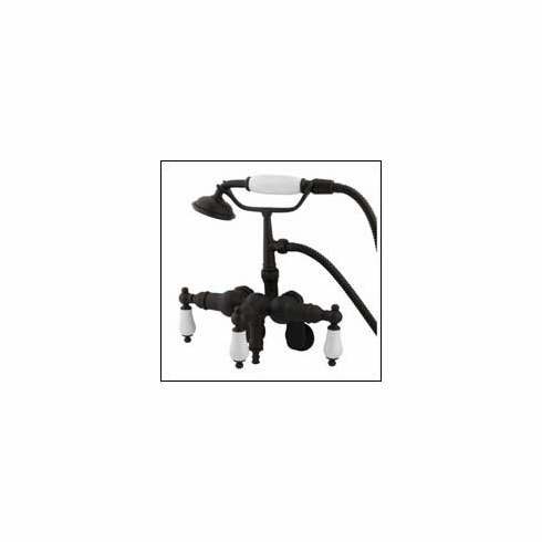 Kingston Brass CC421T5 Vintage Clawfoot Tub Filler w/Hand Shower Oil Rubbed Bronze