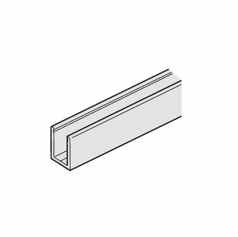 Hafele 941.01.735 Lower Guide Channel, aluminum, anodized, 3.5 meters