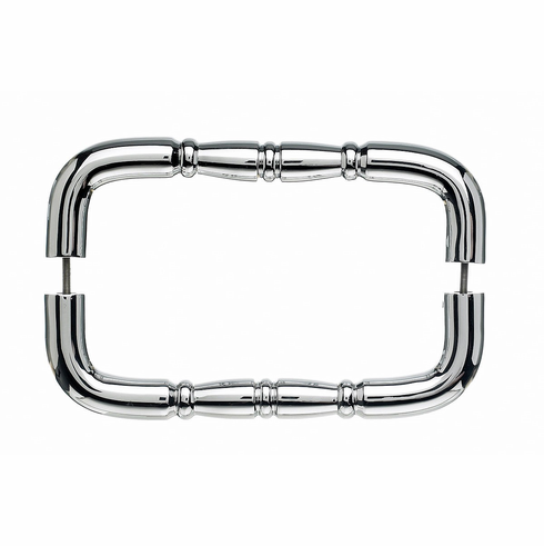 """Top Knobs M714-8 PAIR Appliance Nouveau Ring Back to Back Door Pull 8"""" (c-c) - Polished Chrome **DISCONTINUED - LIMITED AVAILABILITY**, L="""