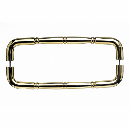 "Top Knobs M715-12 PAIR Appliance Nouveau Ring Back to Back Door Pull 12"" (c-c) - Polished Brass **DISCONTINUED - LIMITED AVAILABILITY**, L="