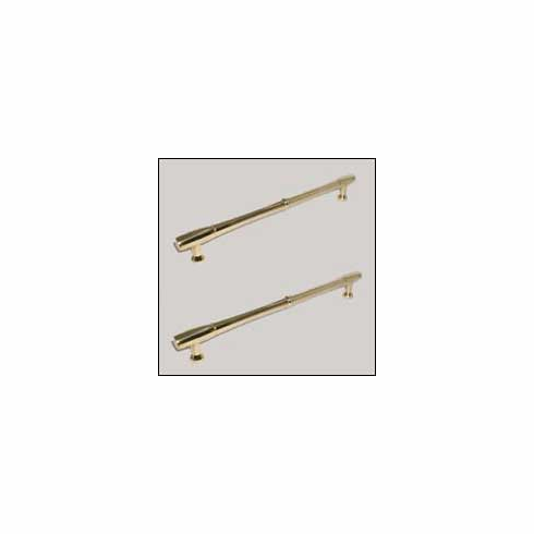 "Top Knobs M722-8 PAIR Appliance Nouveau Bamboo Back to Back Door Pull 8"" (c-c) - Polished Brass, L=9 3/16"", W=7/8"", P=2 1/8"", CC=8"""