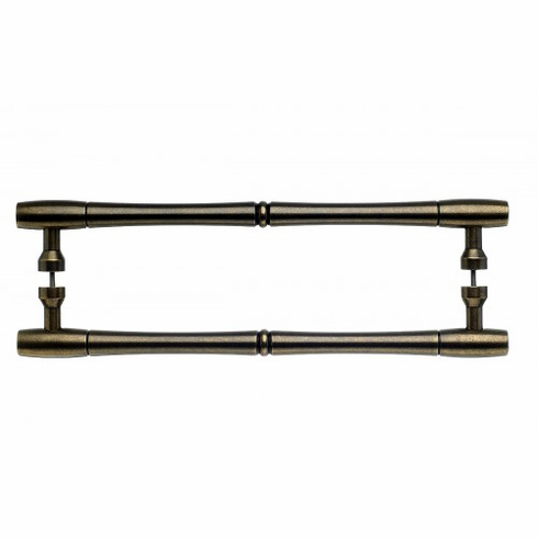 "Top Knobs M726-12 PAIR Appliance Nouveau Bamboo Back to Back Door Pull 12"" (c-c) - German Bronze **DISCONTINUED - LIMITED AVAILABILITY**, L="