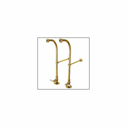 Kingston Brass CC452HCL Vintage Freestanding Water Supply w/Stop Polished Brass