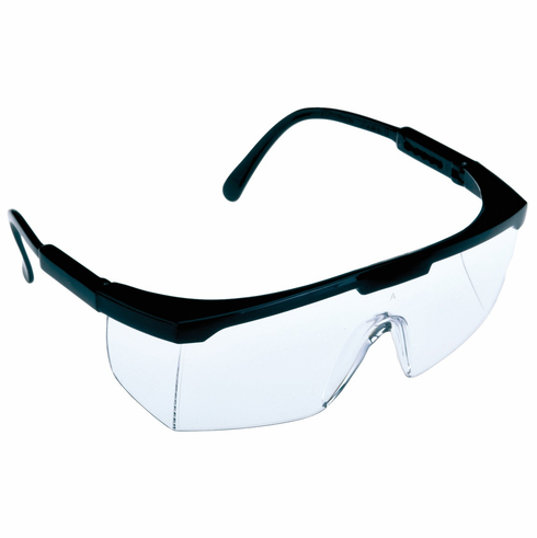 Hafele 007.48.050 Safety Glasses, Squire, Black Frame with Clear lens (12 prs/pkg***)
