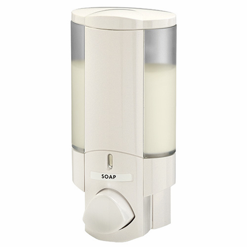 AVIVA I 76150 White, Translucent Bottle with White Button Bath Dispenser