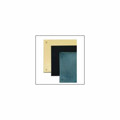"""Brass Accents 6-K-Plate 6"""" Kick Plate (Screw Mounted, Adhesive or Magnetic)"""