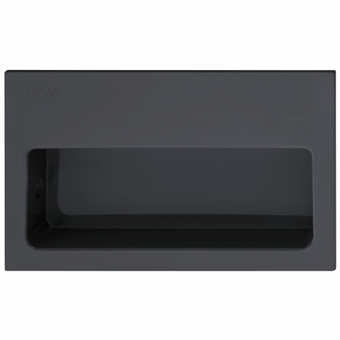Hafele 158.88.092 Flush Handle, polyamide, anthracite gray, 092PA25, 100 x 60mm (each)