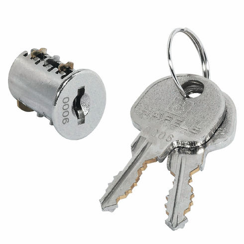 Hafele 210.40.603 Lock Core, Symo, zinc, nickel plated, keyed alike SH3 (each)