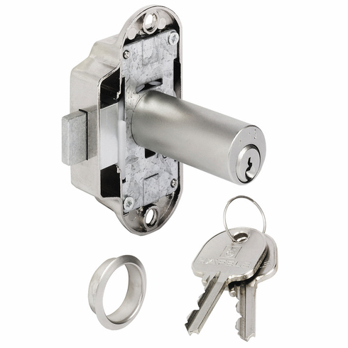 Hafele 225.62.910 Piccolo Nova Lock, extended cylinder, zinc, nickel-plated, left hand, 25mm, H2 (each)