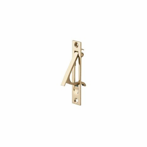 Residential 230 Solid Brass Sliding Door Edge Pull  Size: 3 7/8 inch x 3/4 inch