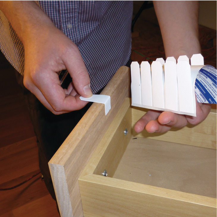 Hafele 114.99.802 Tapenix Temporary Drawer Pull, peel n stick, white, 200 pcs per package