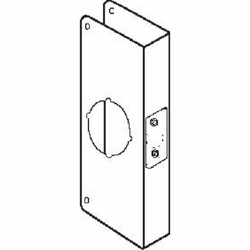 Don-Jo CW4AB 4-Cw Ab Wrap-Around For 2.125 Cylindrical Lock
