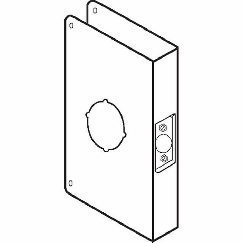 Don-Jo CW6S 6-Cw S Wrap-Around For Deadbolts W/ 1.5 Hole