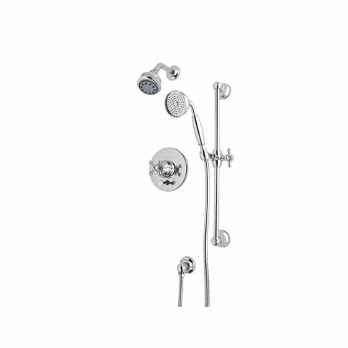 Rohl ACKIT18L-STN **KIT** CISAL SHOWER PACKAGE IN SATIN NICKEL WITH ORNATE METAL LEVER INCLUDES AC200L B240NSH 1440/6 AND 1301