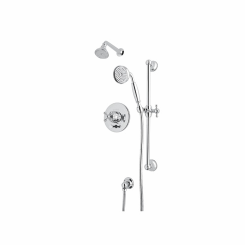 Rohl ACKIT28OP-APC **KIT** ROHL ARCANA SHOWER PACKAGE IN POLISHED CHROME WITH ORNATE WHITE PORCELAIN LEVER INCLUDES AC200OP C5504 AND 1300