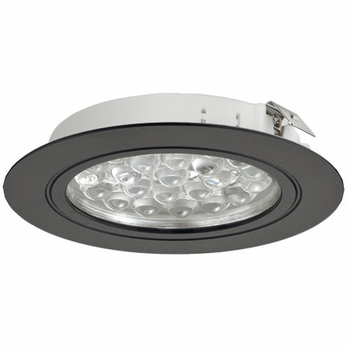 Hafele 833.75.017 LOOX LED 3001, 24V, 1.7, 3000K, round, recessed mount, aluminum black, 65 x 11mm