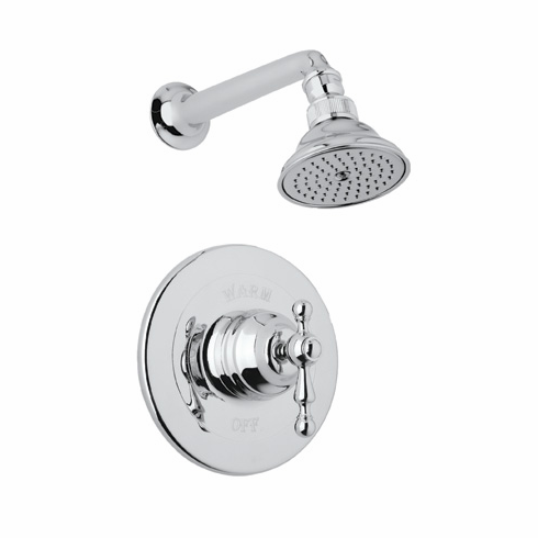 Rohl ACKIT30X-APC **KIT** CISAL SHOWER PACKAGE IN POLISHED CHROME WITH CROSS HANDLE INCLUDES AC100X AND C5504