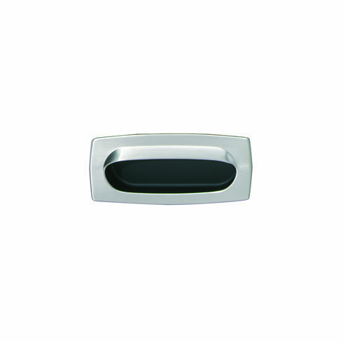 Hafele 151.12.606 Inset Pull, brass, satin nickel / black, 136BR28, 85 x 37mm (each)