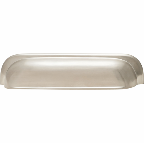 Hafele 151.40.607 Cup handle, Mulberry, brass, brushed nickel, 102BR01, M4, 192mm center to center, with 25mm screws (each)