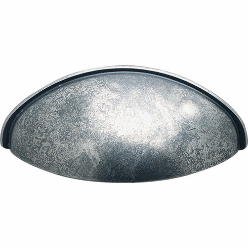 Hafele 151.90.951 Cup handle, zinc, pewter, 104ZN49, M4, center to center 64mm (each)